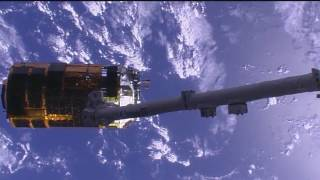 "Japanese ""Kounotori"" H-II Transfer vehicle cargo ship departs the ISS"
