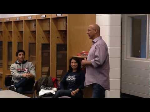 Terry Francona talks to the Arizona Baseball Team