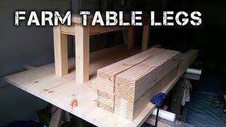 farmhouse table build (part 1)THE LEGS