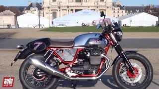 Moto Guzzi V7 II RACER (2014) Essai AutoMoto