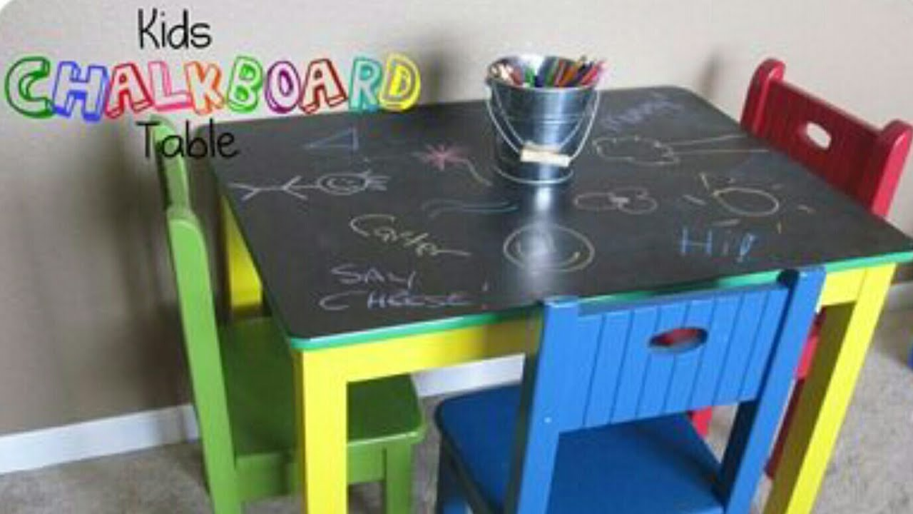 Chalkboard Table   Thrift Store DIY | Chalk Table Art   DIY Craft Project  GREAT For Kids And Teens
