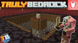 Truly Bedrock SMP - S2 : E30 - Making a Cheap Gold Farm (Zombie Piglin Farm)