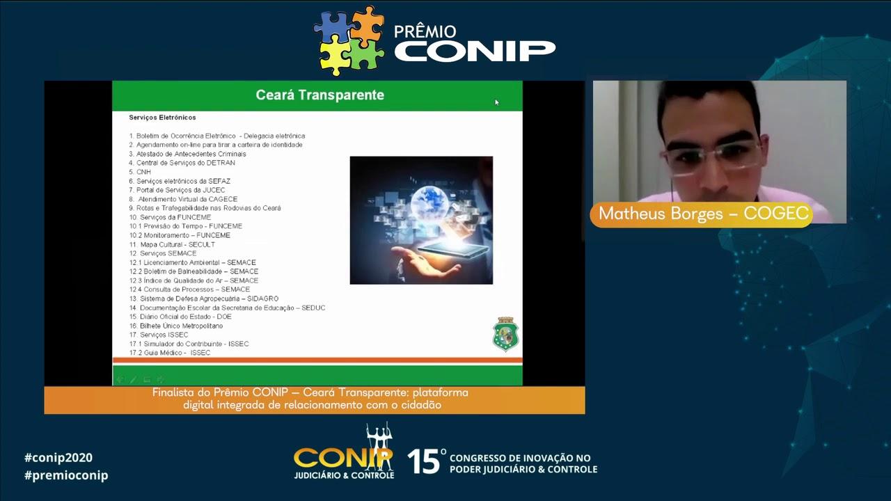 Finalista do Prêmio CONIP – Plataforma Ceará Transparente