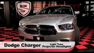 Spyder Auto Installation: 2011-14 Dodge Charger Light Tube Projector Headlights
