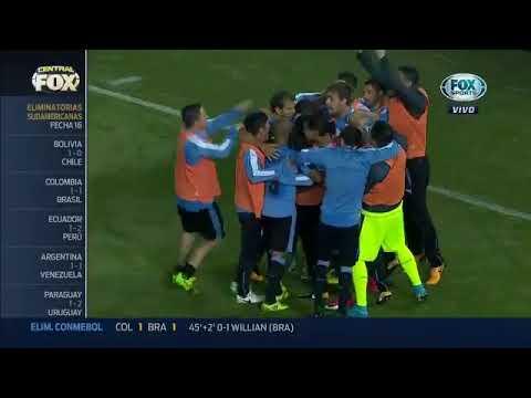 Resumen y goles Paraguay 1-2 Uruguay