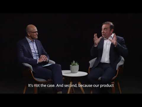 CEO Of Microsoft Interviews Carlos Ghosn The CEO Of Renault Nissan