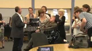 Stephen Hawking visit to CERN