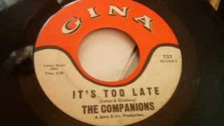 rare philly doo wop ballad companions it s too late