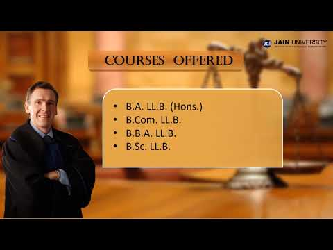 Bachelor of Laws (LLB) at JAIN UNIVERSITY, Bangalore