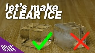 Make Clear Ice Cubes for Cocktails Consistently