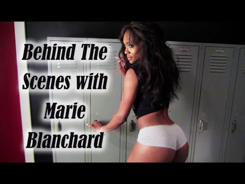Behind the s photoshoot  Marie Blanchard