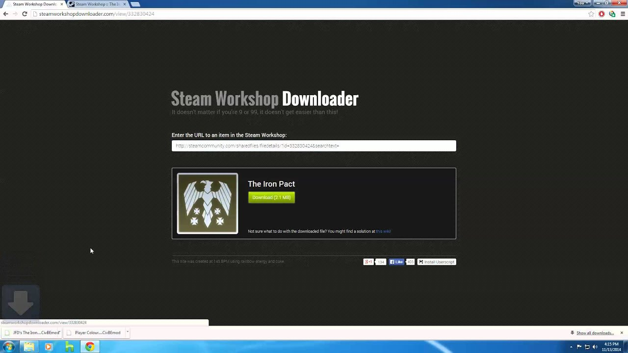 downloading subscribed steam workshop files