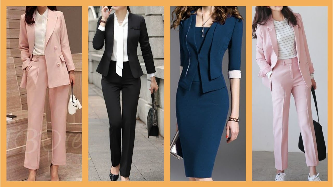 Casual Office Wear Dresses With Jacket Stylish Business Women Outfit Ideas Youtube