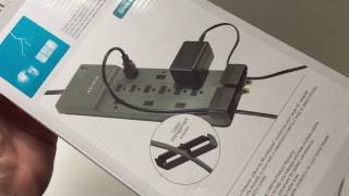 Belkin 12-Outlet Power Strip Surge Protector Unboxing & Review