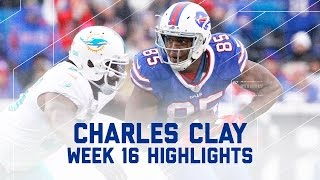 Charles Clay's Huge Day with 2 TDs! | Dolphins vs. Bills | NFL Week 16 Player Highlights