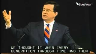 Stephen Colbert At University of Virginia  You Owe The Previous Generation Nothing
