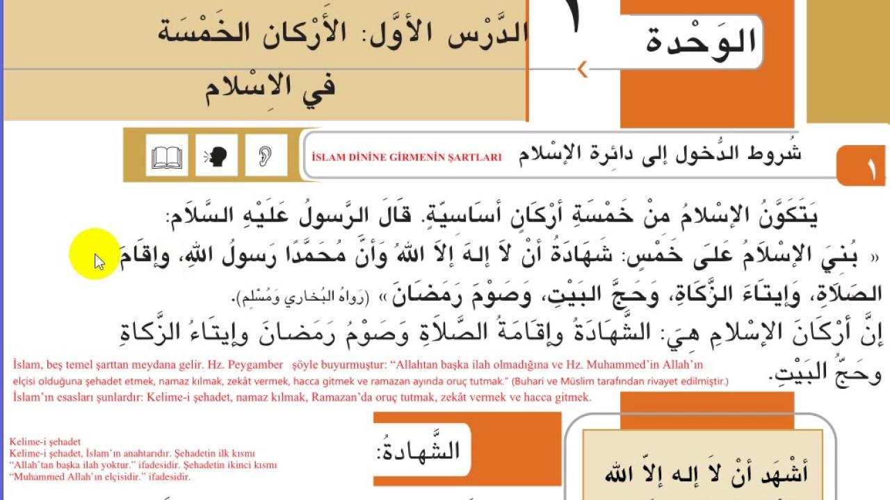Imam Hatip Lisesi 11 Sınıf Arapca 1 Unite 1 Ders Konu Anlatım Youtube