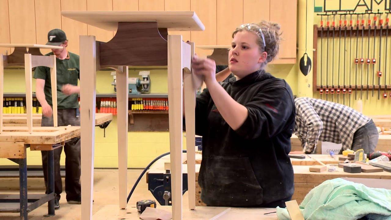 Apprenticeship Manitoba - Alicia Demare - Cabinetmaking - YouTube