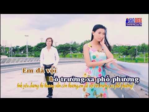 [Karaoke HD] Mưa Qua Phố Vắng - Chế Khanh ft Lý Diệu Linh
