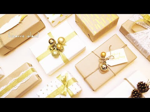 10 Last Minute Easy & Chic Gold Accents Gift Wrapping Ideas 🎁  | c for craft