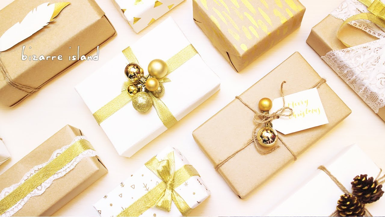 10 Last Minute Easy & Chic Gold Accents Gift Wrapping Ideas 🎁 | c ...