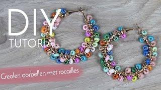 Sieraden maken met Kralenwinkel Online - Creolen oorbellen met rocailles
