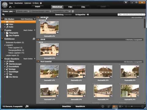 Medien automatisch sortieren in Avid studio und Pinnacle Studio