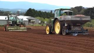 Mountain Harvest Foods Potato Planting Machine In Action