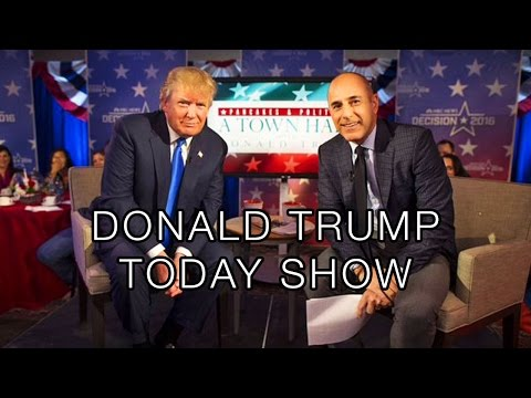 "Donald Trump Interview 2015: TODAY Show, Mexicans, ISIS, Syria Refugees, $1 Million ""Small Loan"""