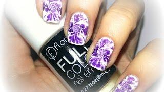 Красивый романтичный маникюр // Абстрактный дизайн ногтей простыми лаками