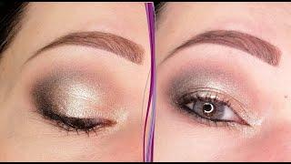 Серебристый макияж глаз в стиле смоки айс пошаговый урок