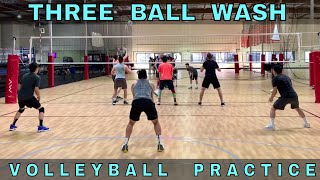 3 Ball Wash (Practice #2 Part 4) | Volleyball Practice (5/4/19)