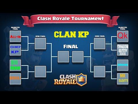 THE KP CLAN TOURNAMENT (THE QUARTER FINAL) clash royale
