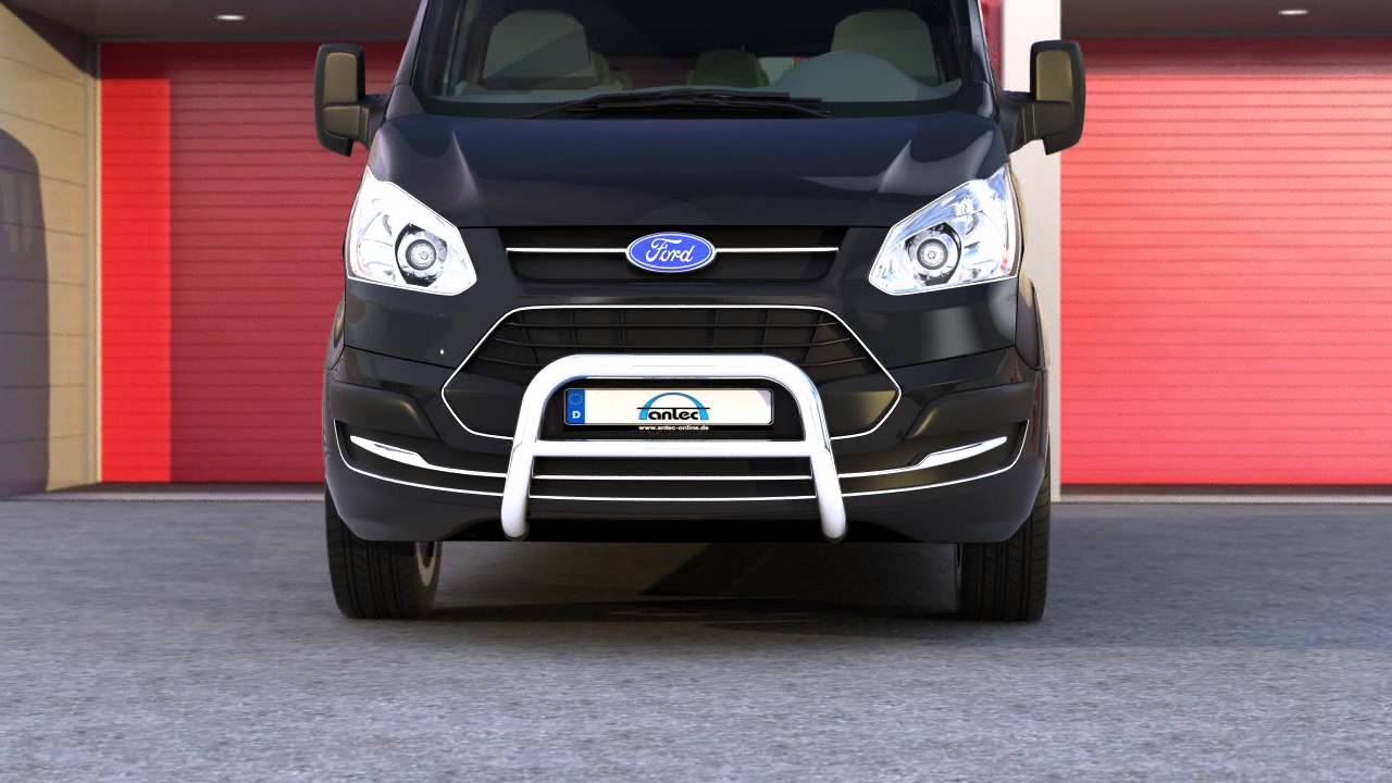 16t4113 ford transit custom tourneo custom eu pedestrian protection bar low with cross pipe