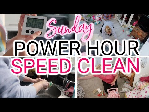 POWER HOUR SPEED CLEAN WITH ME | CLEANING MOTIVATION 2019