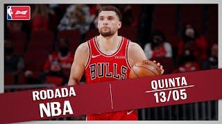 RODADA NBA 13/05 - CHICAGO BULLS SEGUE VIVO, GIANNIS ESPETACULAR, TOP 10 E MAIS!