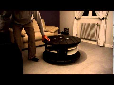 table de salon youtube. Black Bedroom Furniture Sets. Home Design Ideas
