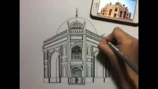DELHIGHTED.COM : Drawing - Humayun