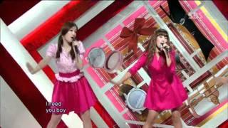 Sistar - Shady Girl (씨스타 - 가식걸) @ SBS Inkigayo 인기가요 100829