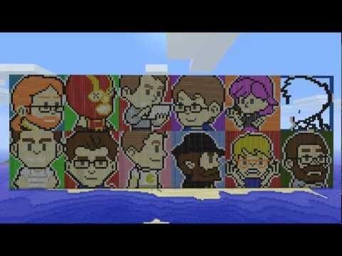 Mojang Pixel Art in Minecraft