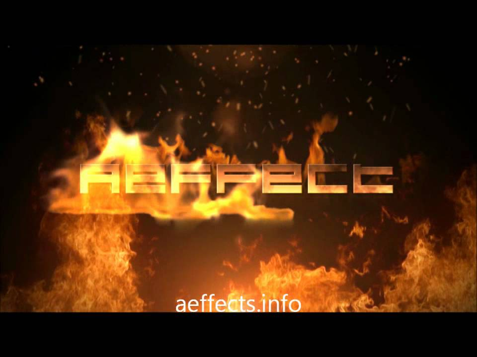 free after effects text templates - flaming text free after effects template no plugins