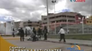 Estudiantes de Universidad Nacional de Cajamarca protestan por proyecto Conga