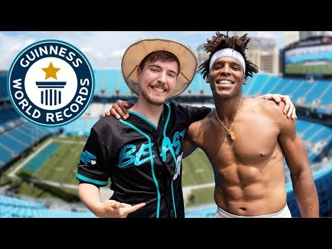 Jeff Kent - WATCH:  Cam Newton breaks world record one handed catches