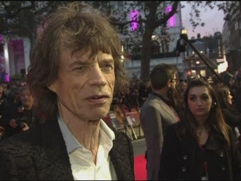 The Rolling Stones on the red carpet at Crossfire Hurricane world premiere