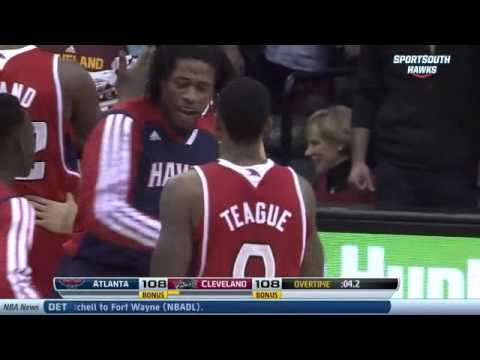 Jeff Teague game-tying 3 pointer to send game to double overtime