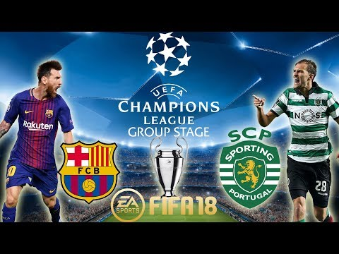 FIFA 18 Barcelona vs Sporting | Champions League Group Stage 2017/18 | PS4 Full Match