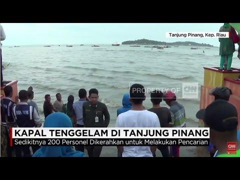 Live Report: Evakuasi Korban Kapal Tenggelam Tanjung Pinang Terhambat Arus Laut