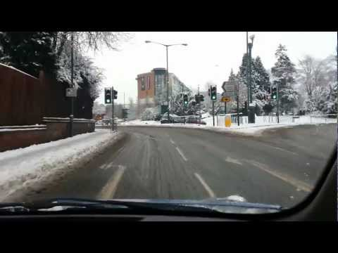 Driving Through Snow filled Solihull