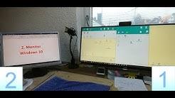 Windows 10 mit 2.Monitor erweitern und einstellen. HDMI, DVI, DisplayPort