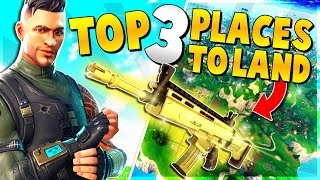 TOP 3 UNKNOWN PLACES to Land for EASY WINS and LEGENDARY Weapons | Fortnite Battle Royale